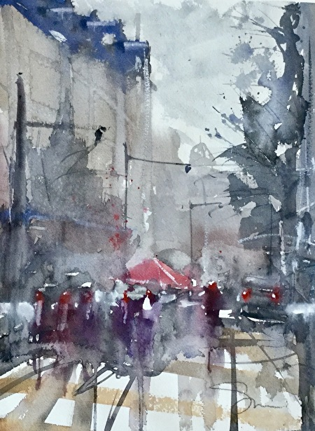 Watercolor Cityscapes with Energy and Freedom