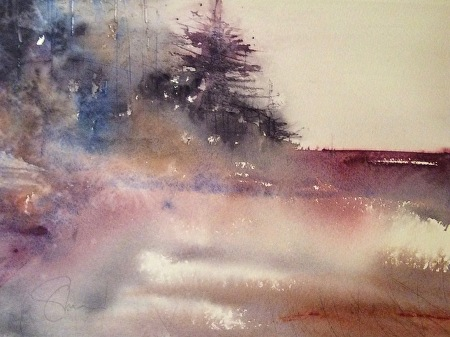 Watercolor Landscapes with Energy and Freedom