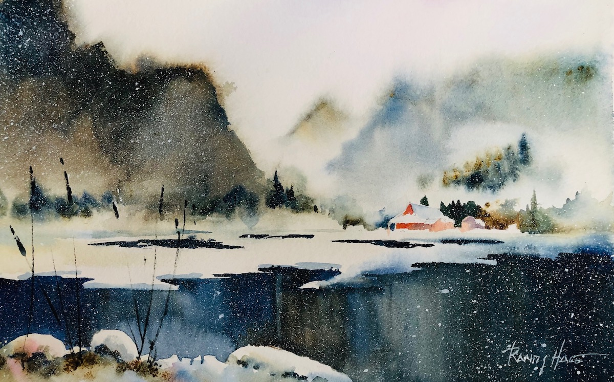 A Softer Atmospheric Approach to Landscapes (in watercolor) Afternoons – Winter