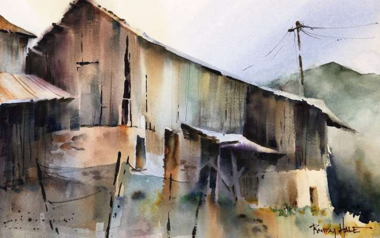 A Softer Atmospheric Approach to Landscapes (in watercolor) Afternoons – Spring